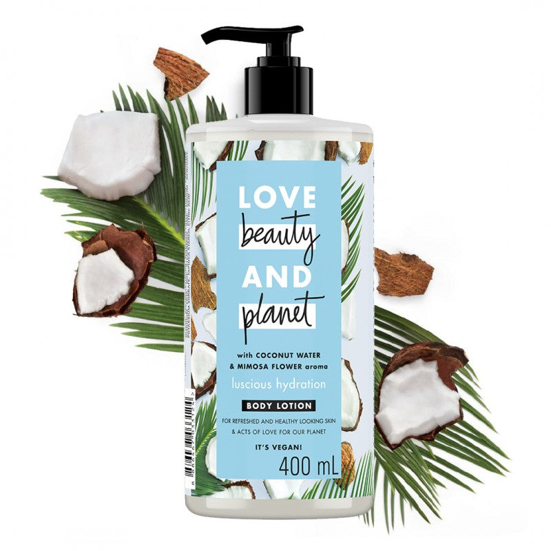 Love Beauty And Planet Coconut Water & Mimosa Flower Body Lotion (400 ml)