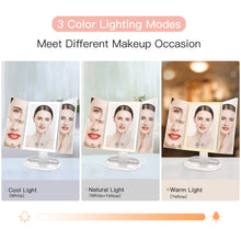 Muat gambar ke penampil Galeri, BESTOPE Makeup Mirror with Upgraded 72 Led Lights