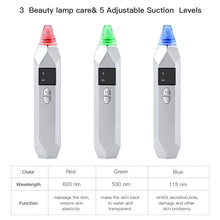 Muat gambar ke penampil Galeri, BESTOPE Blackhead Remover Vacuum USB Rechargeable with Tri-Color Beauty Lights, 5-Levels Suction and 5 Replacement Probes