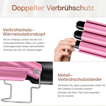Muat gambar ke penampil Galeri, BESTOPE Hair Curling Iron with 3 Barrels (25mm) Wand Set Pink