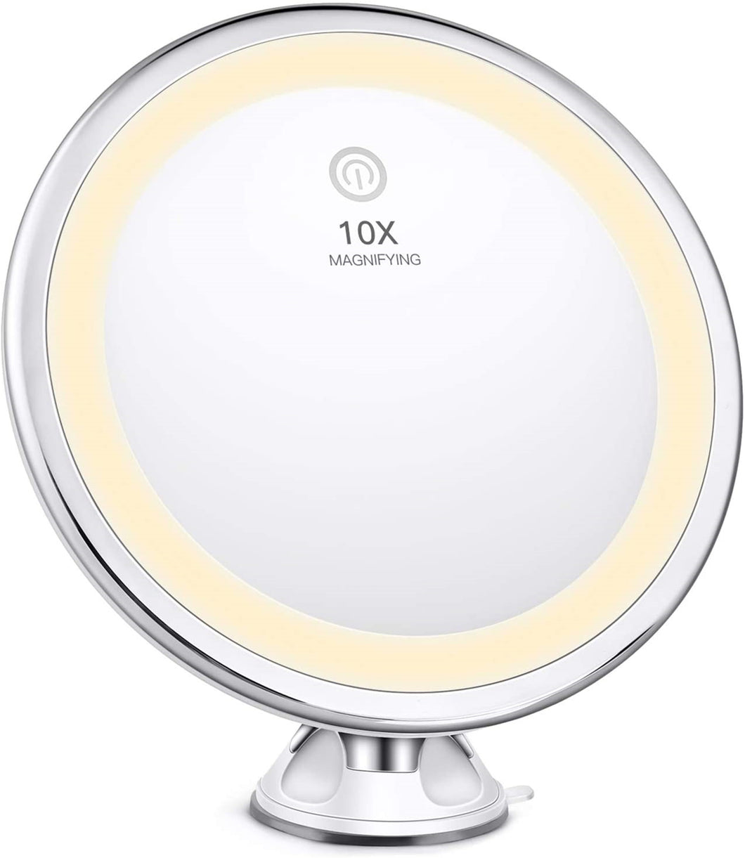 BESTOPE Makeup Mirror 10X Magnifying with Powerful Suction Cup