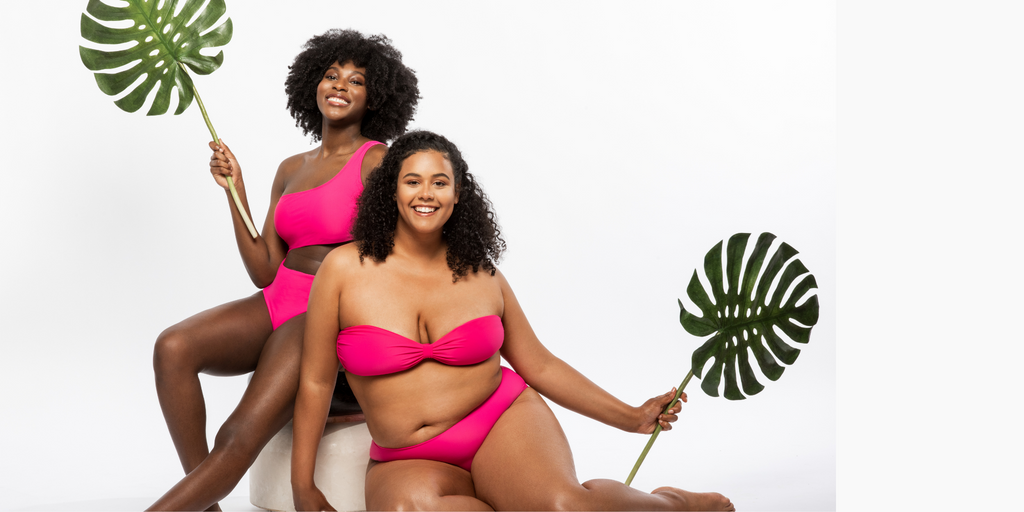 crescent bleu swimwear to love, Flo monokini, Simone bikini top & Essential brief in a pop of pink, crafted in premium ECONYL® fiber, with a luxe feel and fit just for you.