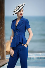Load image into Gallery viewer, Meliora Blue Short Sleeve Suit