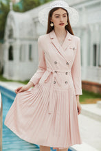 Load image into Gallery viewer, Meliora Pink Princess Pleated Dress
