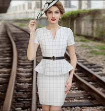 Load image into Gallery viewer, Meliora Grid Checkered Skirt Suit