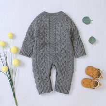 Load image into Gallery viewer, Knitted Long-sleeve Jumpsuit