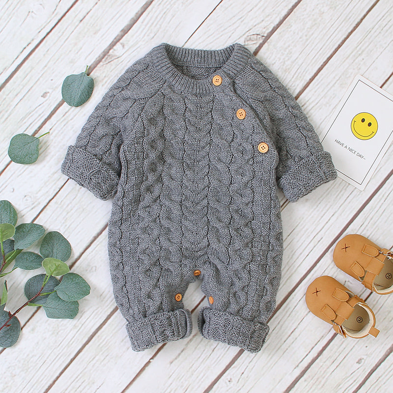 Knitted Long-sleeve Jumpsuit