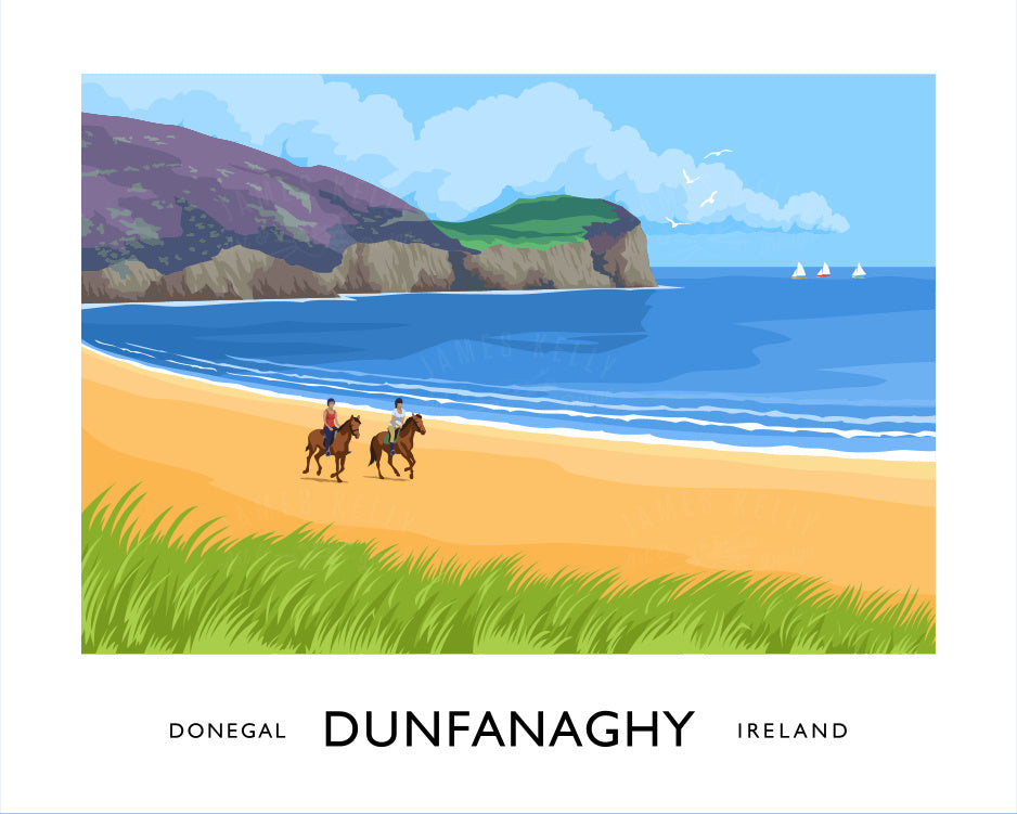 James Kelly Art - Dunfanaghy Print