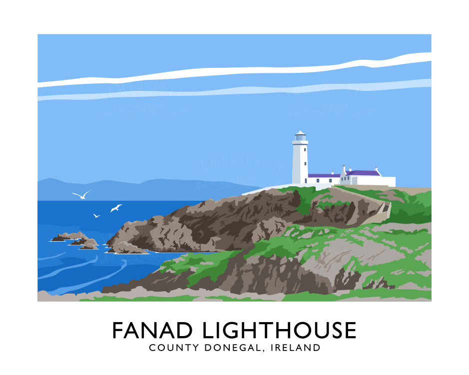 James Kelly Art - Fanad Lighthouse Print