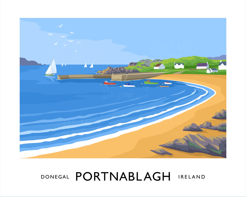 James Kelly Art - Portnablagh Print