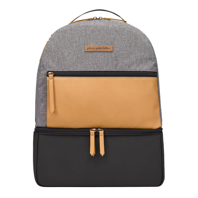 Axis Backpack in Graphite/Camel-Inter-Mix-Petunia Pickle Bottom