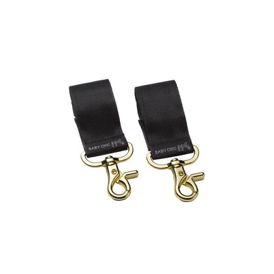 Valet Stroller Clips in Gold/Black-Essentials-Petunia Pickle Bottom