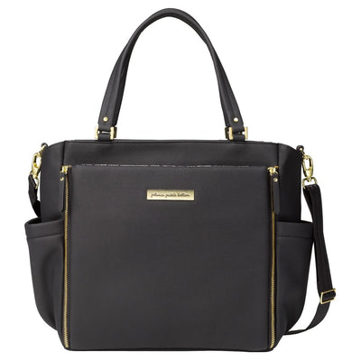 City Carryall in Black Matte Leatherette-Leatherette Collection-Petunia Pickle Bottom