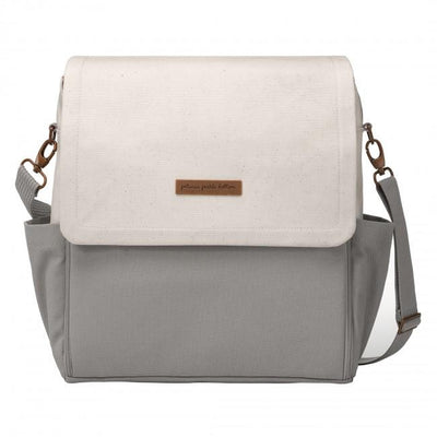 Boxy Backpack in Birch/Stone Colorblock-Diaper Bags-Petunia Pickle Bottom