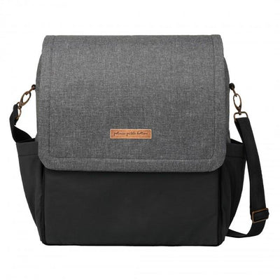 Boxy Backpack in Graphite/Black Colorblock-Diaper Bags-Petunia Pickle Bottom