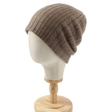 Load image into Gallery viewer, Pure Cashmere Beanie, Beige/ Ivory