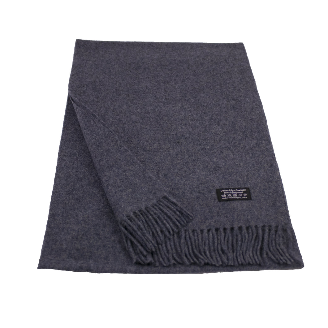 Pure Lambswool scarf, Denim Blue