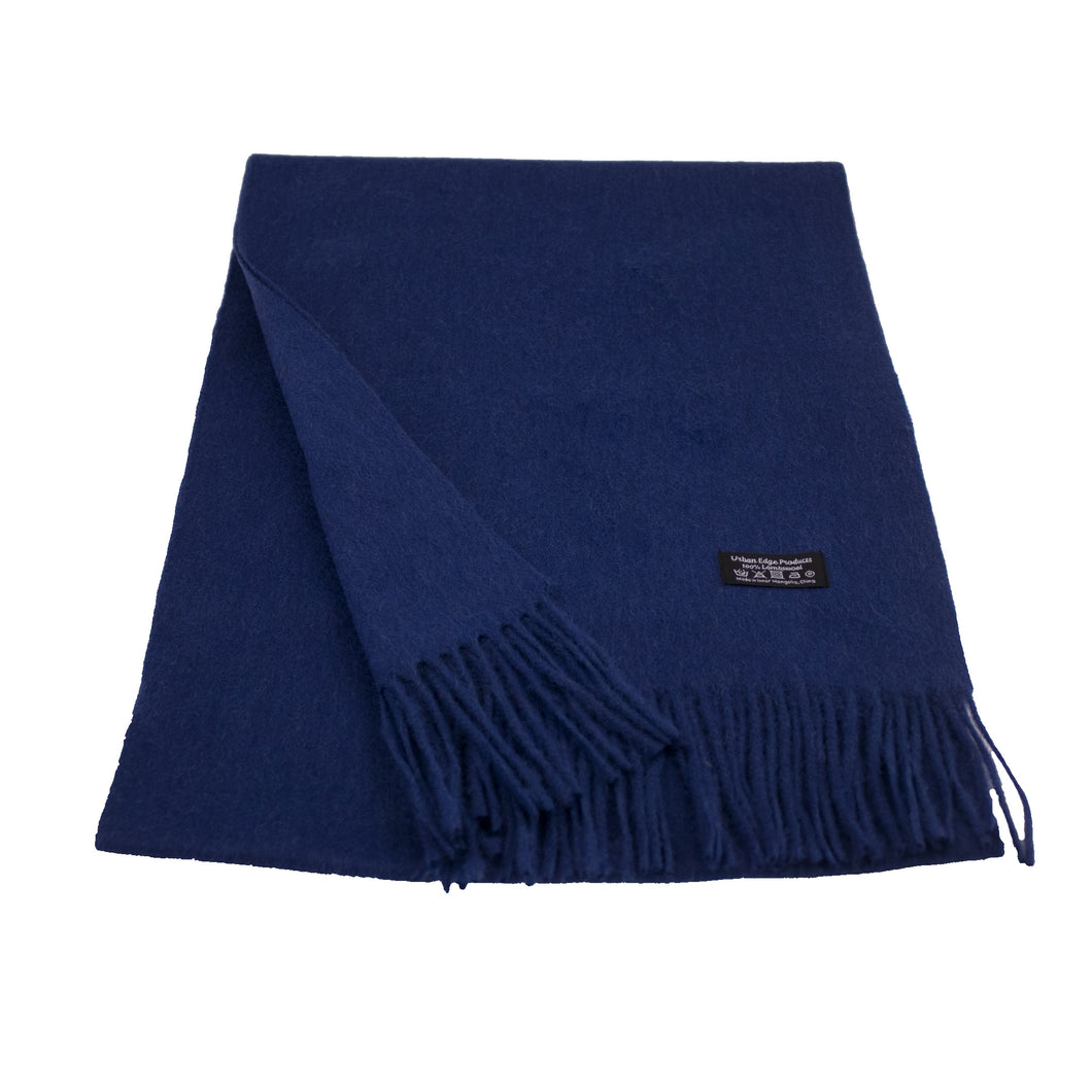 Pure Lambswool scarf, Navy