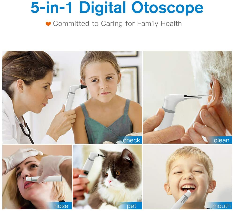 Wireless Ear Otoscope with Ear Cleaning Kit