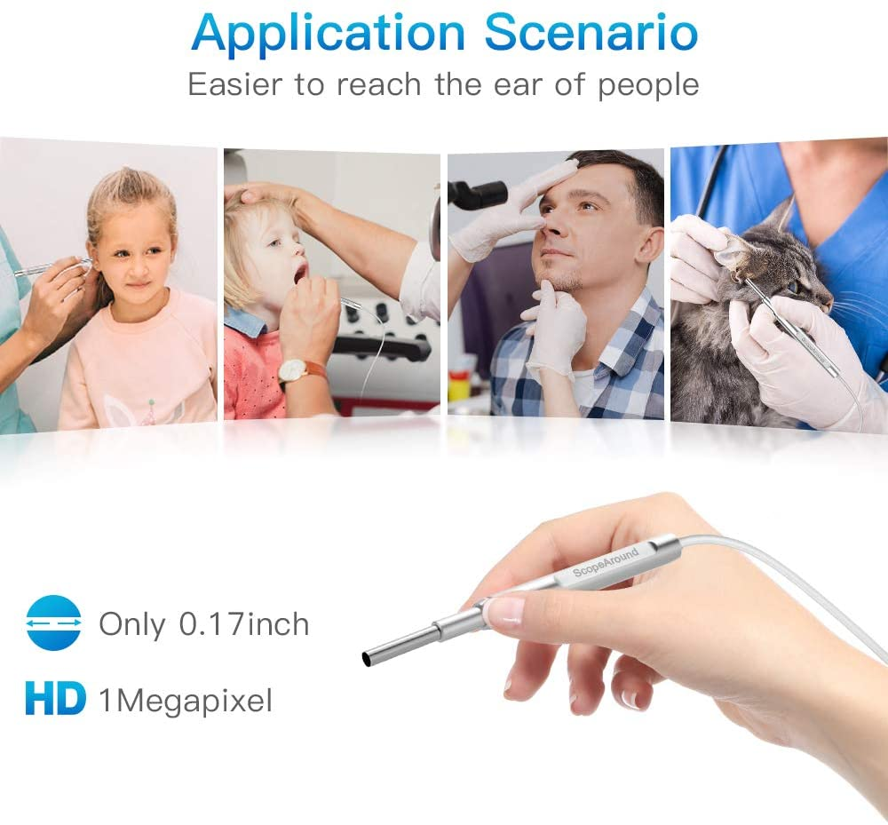 Digital Otoscope with Ear Wax Removal