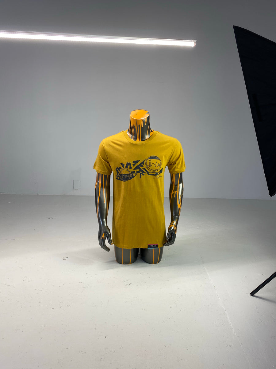 Men's Mustard T-Shirt Elephant Print