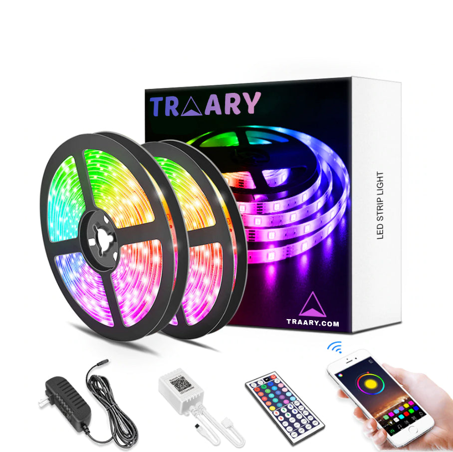 Premium Color Changing LED Lights W/ Bluetooth- DIY Colors - TRAARY