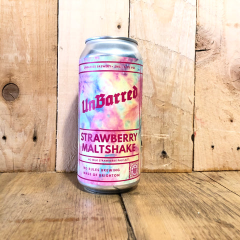 Unbarred - Strawberry Maltshake - IPA - 440ml (5.5%)