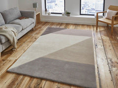 Think Rugs Hand Tufted Wool Collection - Elements EL 83 Beige/Peach