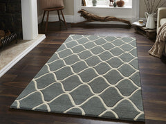 Think Rugs Hand Tufted Wool Collection - Elements EL 65 Blue