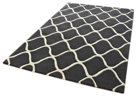 Think Rugs Hand Tufted Wool Collection - Elements EL 65 Grey