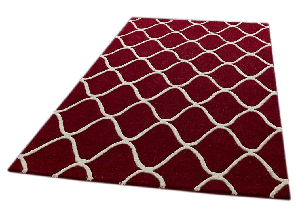 Think Rugs Hand Tufted Wool Collection - Elements EL 65 Red