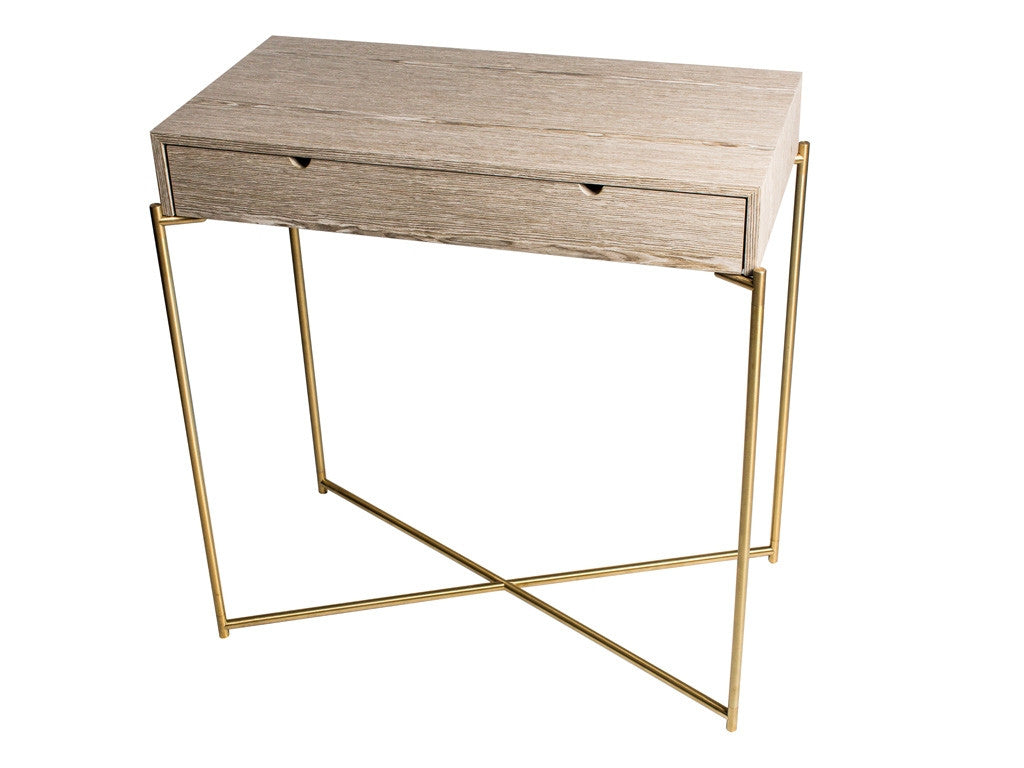 Gillmore Space Iris Small Console Table - Drawer Top