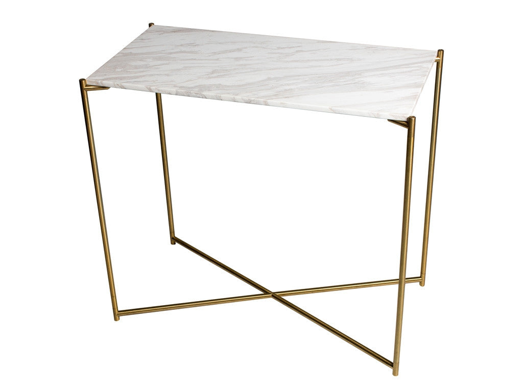 Gillmore Space Iris Small Console Table - Flat Top