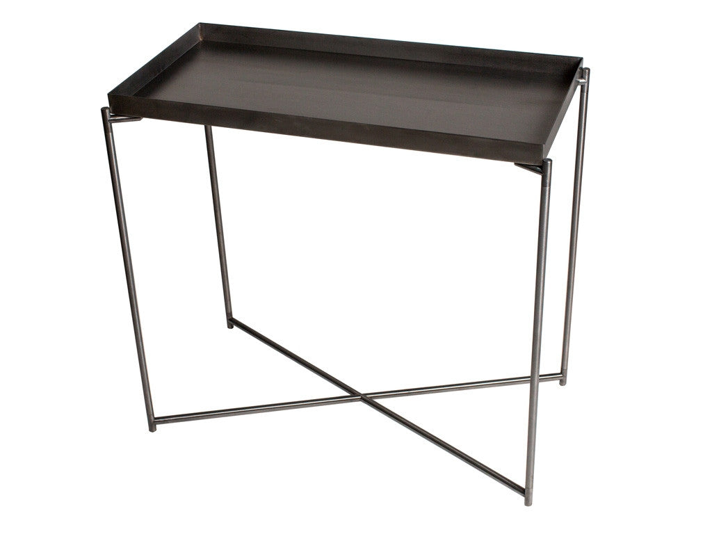 Gillmore Space Iris Small Console Table - Tray Top
