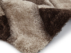 Think Rugs Hand Tufted Shaggy Collection - Noble House NH 9716 Beige/Brown