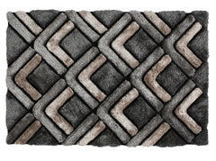Think Rugs Hand Tufted Shaggy Collection - Noble House NH 8199 Grey