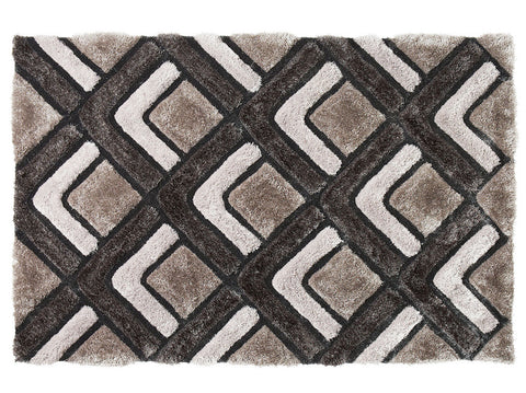 Think Rugs Hand Tufted Shaggy Collection - Noble House NH 8199 Silver