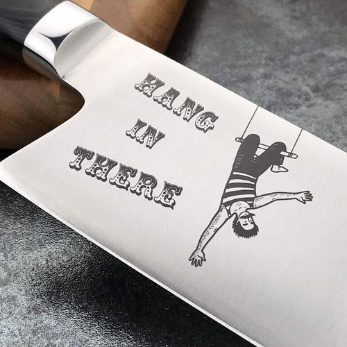 Bowie Chef® Engraved Series (Hang In There)