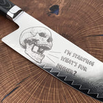 DAMASCUS Bowie Chef® Engraved Series