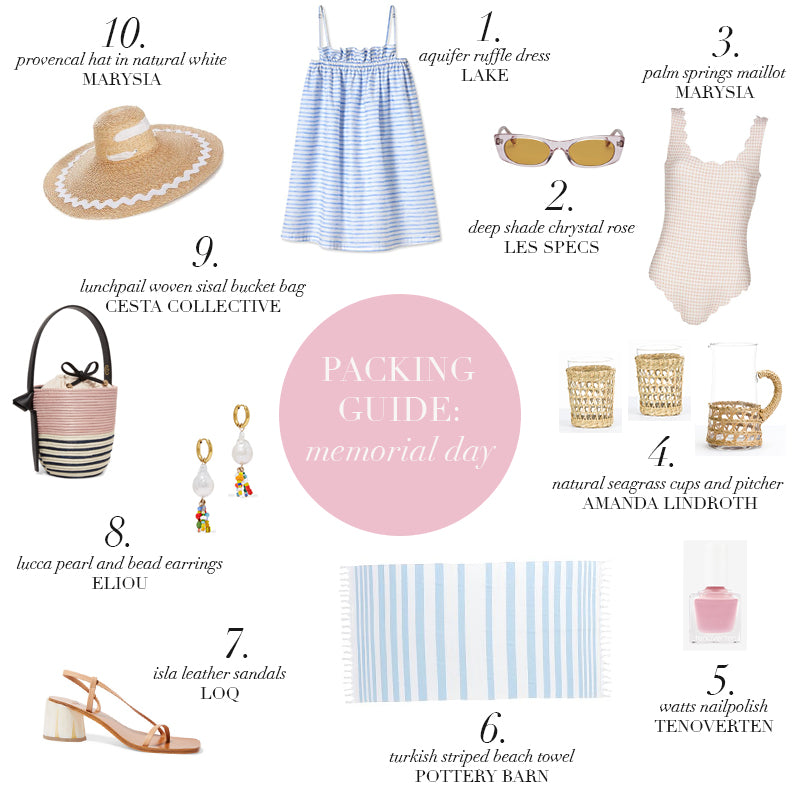 Packing Guide: Memorial Day
