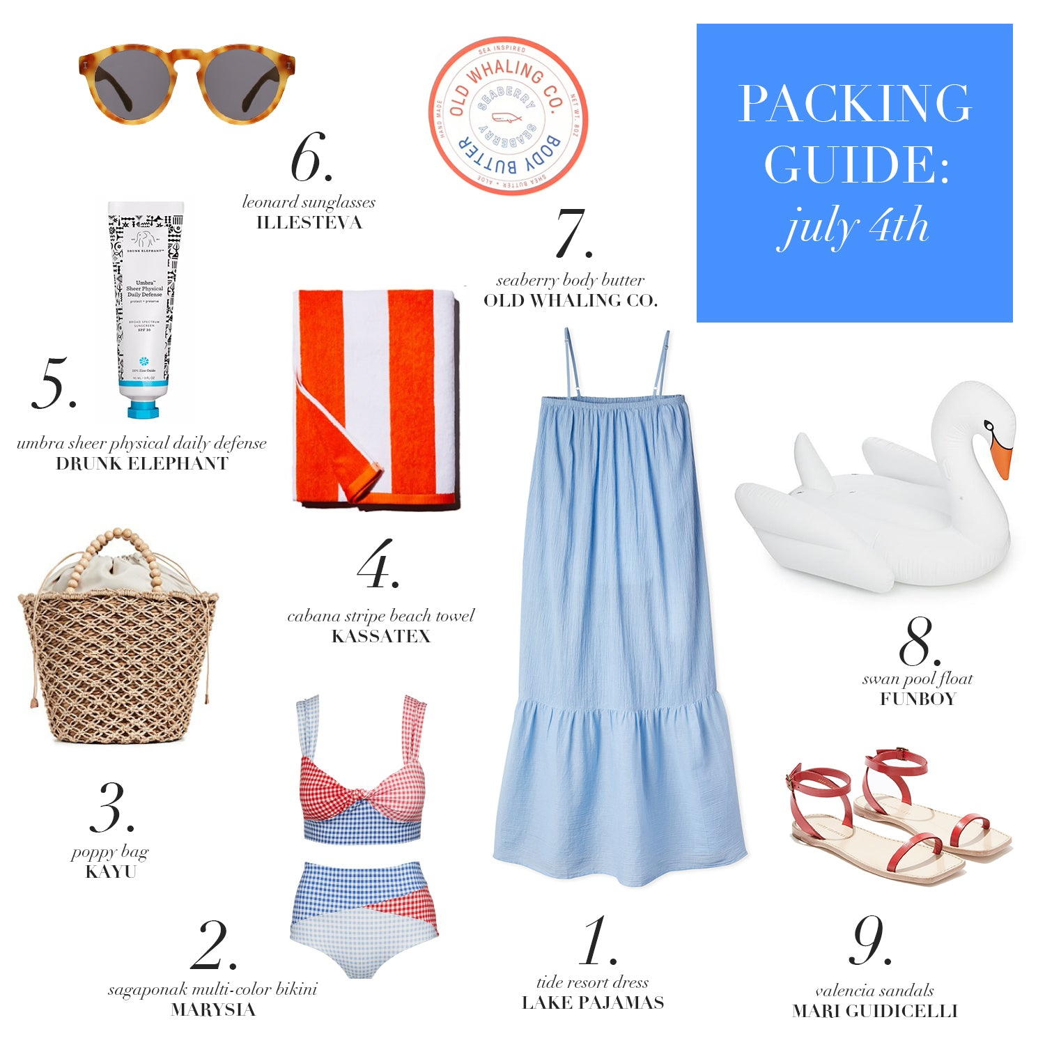Packing Guide: July 4th