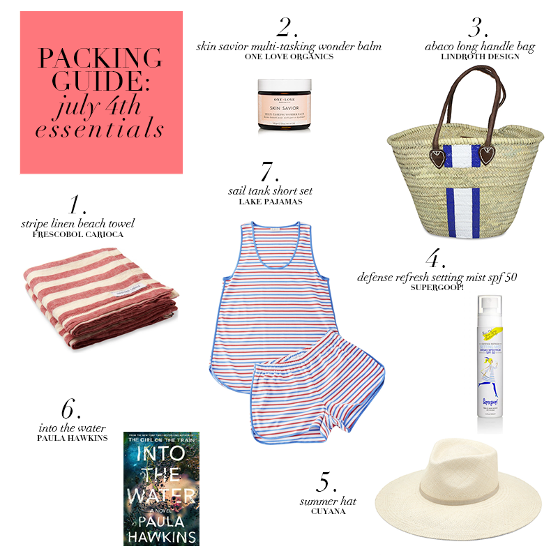 Packing Guide 4th of July