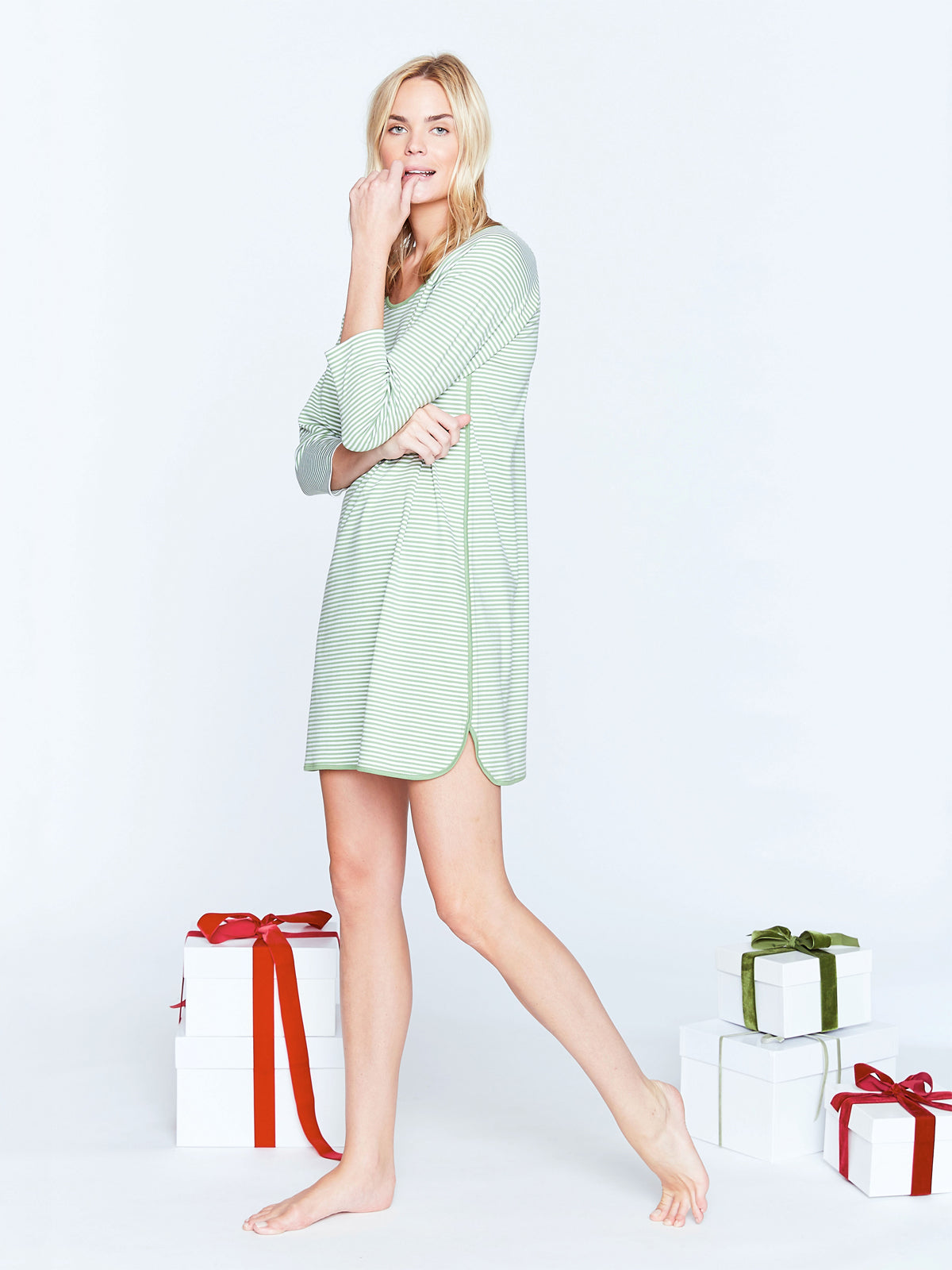 Evergreen Long Sleeve Nightgown