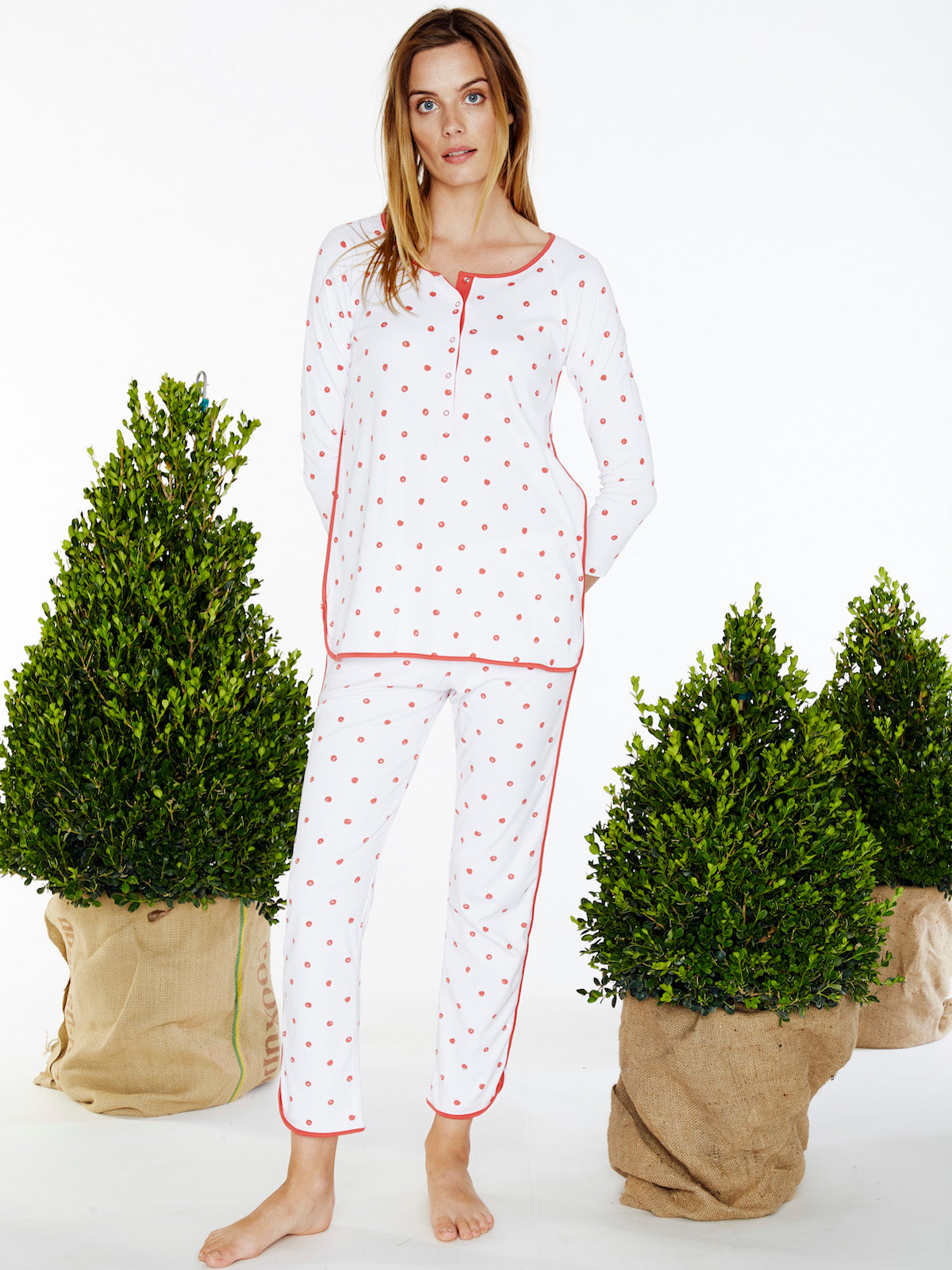 Red Currant Maternity Long-Long Set