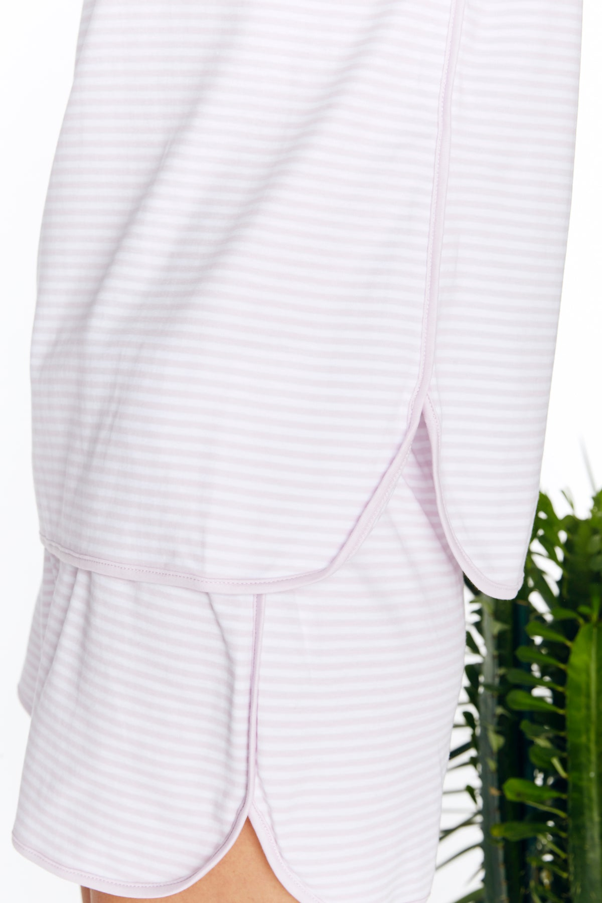 Pima Shorts Set in Lavender