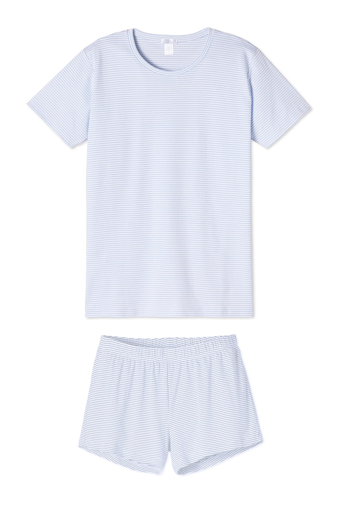 Pima Weekend Shorts Set in French Blue