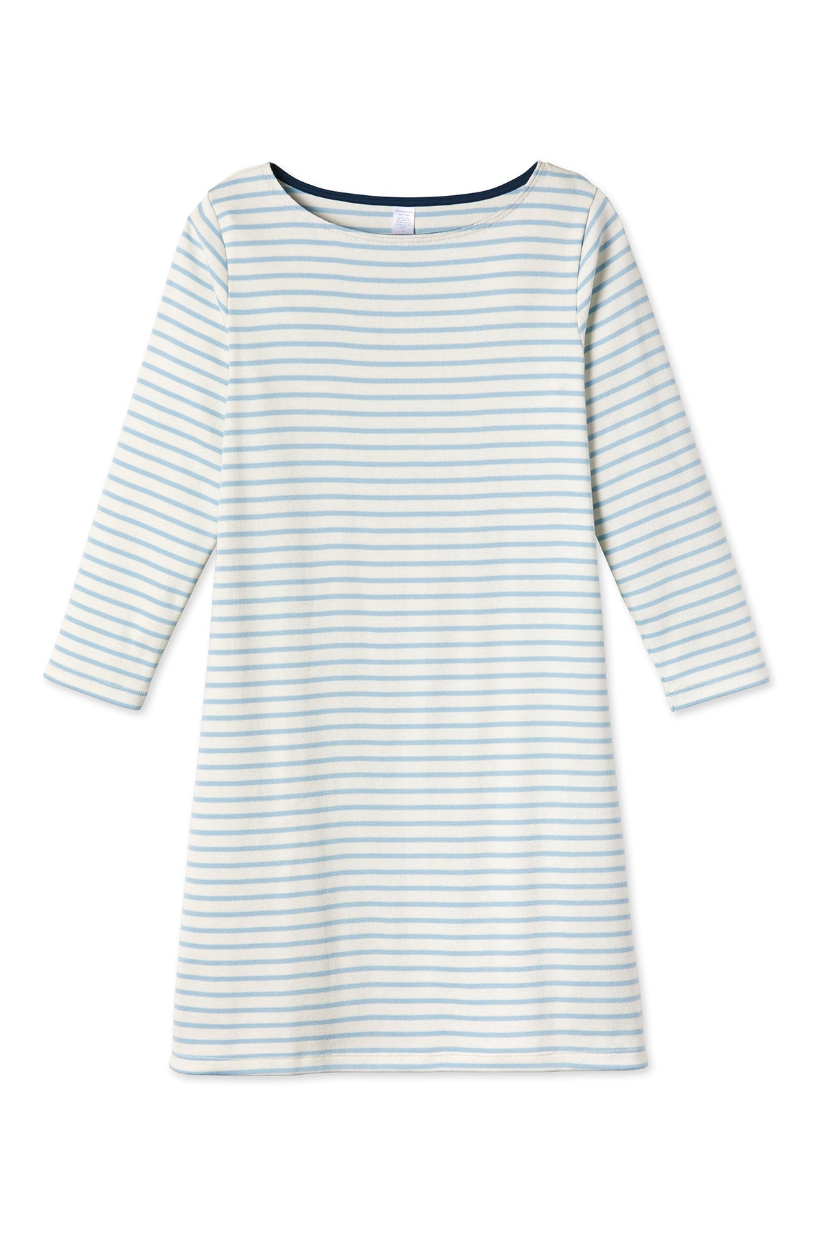 Breton Dress in French Blue