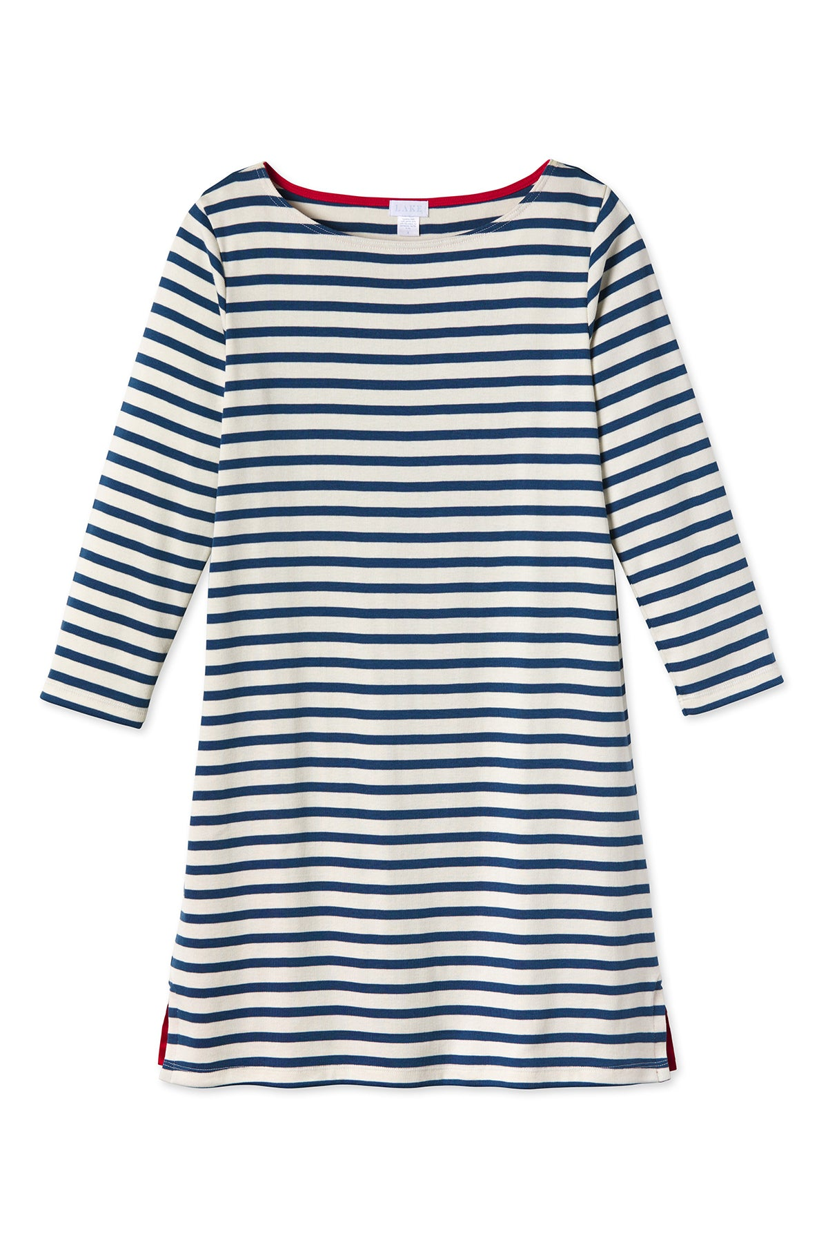 Breton Dress in Navy
