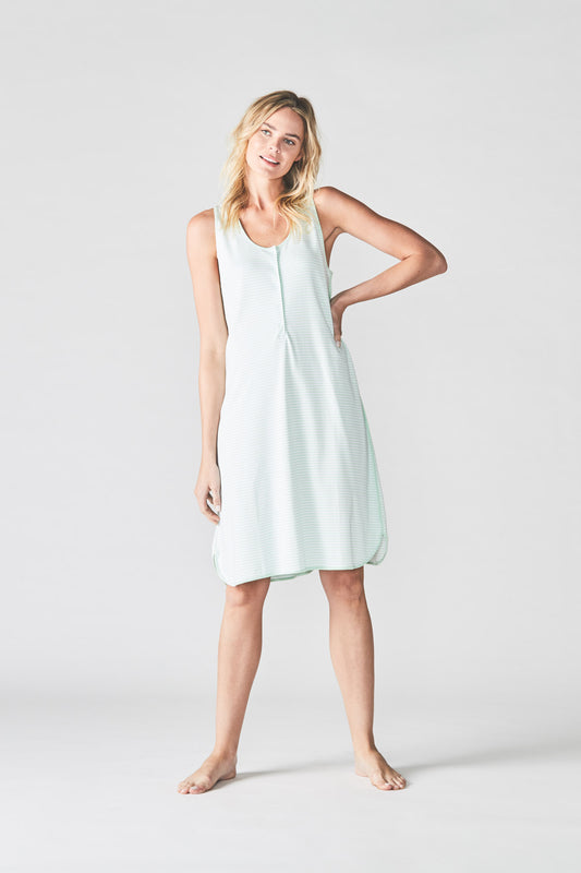 Mint Maternity Tank Gown
