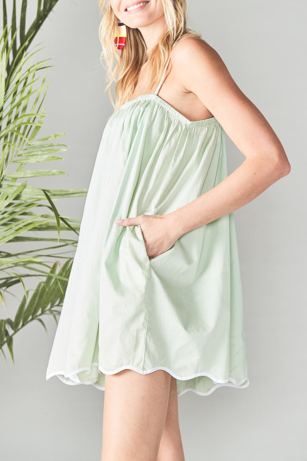 Wave Dress in Seafoam